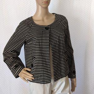Ann Taylor LOFT abstract geometric blazer